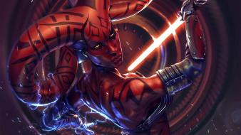 Star wars lightsabers sith darth talon fan art wallpaper