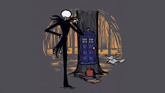 Tardis the nightmare before christmas doctor who crossovers wallpaper