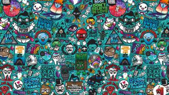 Vector xray hipster characters jthree concepts jared nickerson Wallpaper