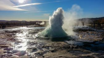 Water iceland geyser wallpaper