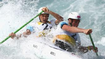 Water sports canoe rowing splashes olympics 2012 wallpaper