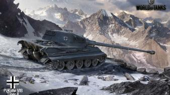 Winter world of tanks tiger ii pzkpfw vib wallpaper