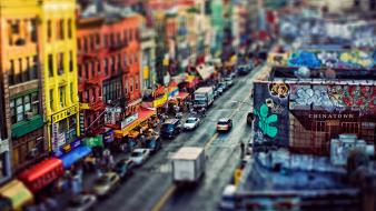 York city downtown chinatown tilt-shift ed mcgowan Wallpaper