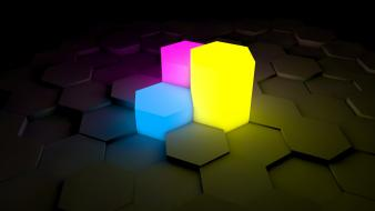 3d cinema 4d colors background hexagon smooth wallpaper