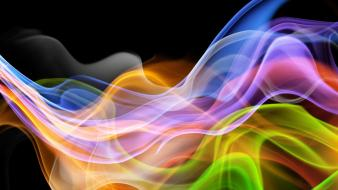 Abstract multicolor smoke colors curves wallpaper