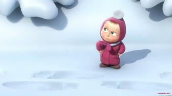 Animation 3d masha and the bear Wallpaper