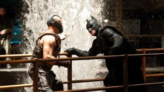 Batman bane the dark knight rises set photos wallpaper