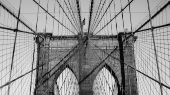 Bridges brooklyn bridge new york city cables wallpaper