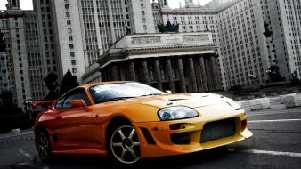 Cars orange japanese toyota tuning supra cities jdm Wallpaper