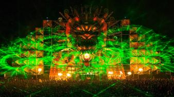 Festival hardstyle q-dance mystery land 2012 lasers wallpaper