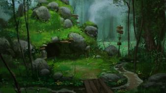 Forest fantasy art wallpaper