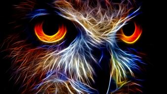Fractalius owls wallpaper