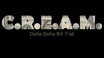 Hop dollar bills cream wu-tang clan sign Wallpaper