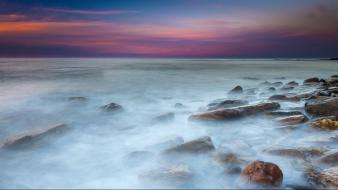 Horizon rocks seascapes wallpaper