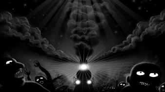 Horror dark trains terror artwork wallpaper