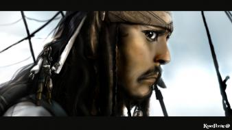 Jack sparrow hats airbrushed fan black hair Wallpaper
