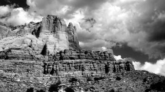 Landscapes desert arizona monochrome wallpaper