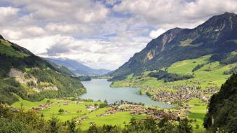 Landscapes valley switzerland Wallpaper