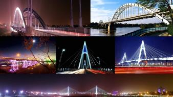 Light bridges iran rivers ahvaz wallpaper