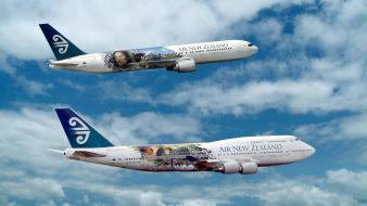 Lord of rings airliners boeing 747-400 767 Wallpaper