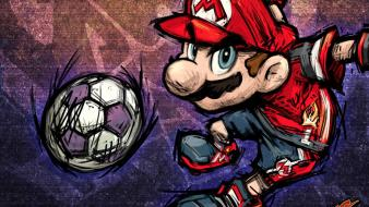 Mario video football game strikers charged wallpaper