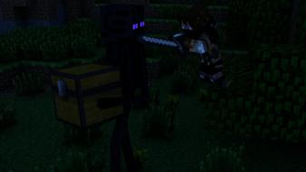 Minecraft enderman wallpaper