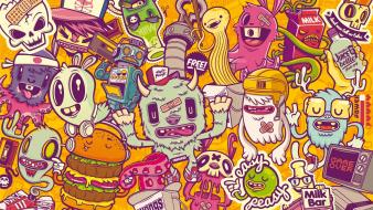 Monsters freaks characters colors background wallpaper