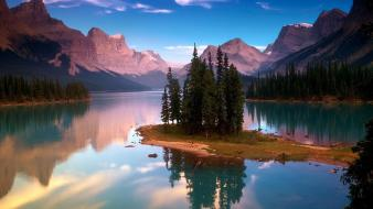 Mountains clouds waterscapes Wallpaper