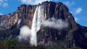 Mountains landscapes venezuela waterfalls angel falls wallpaper