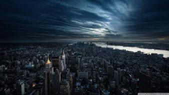 Night cities aerial view wallpaper