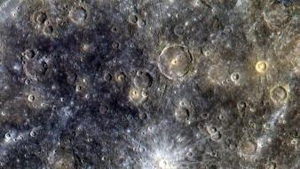 Outer space planets crater mercury wallpaper