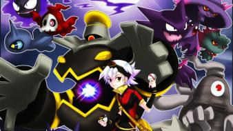 Pokemon gengar haunter dusknoir ghost pokeball wallpaper