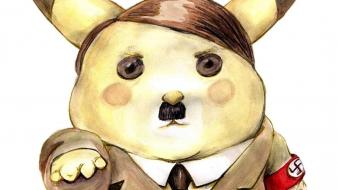 Pokemon pikachu funny nazi adolf hitler wallpaper