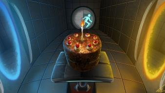 Portal video cakes game Wallpaper