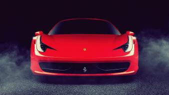 Red cars ferrari vehicles 458 italia automobiles Wallpaper