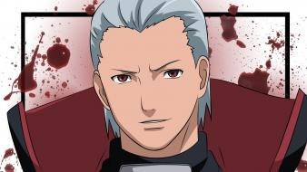 Red eyes hidan white hair duplicate silver wallpaper