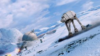 Star wars hoth at-at the empire strikes back wallpaper