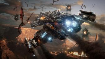 Starcraft fantasy art spaceships science fiction wallpaper
