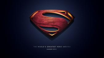 Superman hollywood logo man of steel (movie) wallpaper