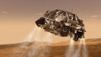 System planets mars nasa spaceships rover curiosity Wallpaper