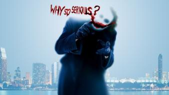 The joker batman dark knight why so serious? Wallpaper