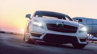 Vehicles reflections mercedes-benz mercedes benz cls 63 wallpaper