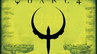 Video games quake green background game art wallpaper