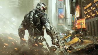 Video games times square crysis 2 alcatraz wallpaper