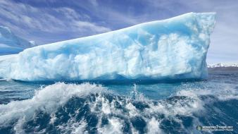Water ice giant icebergs wallpaper