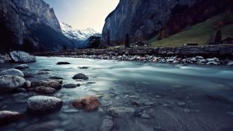 Water mountains landscapes cold rivers wallpaper