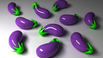 Abstract 3d eggplants Wallpaper