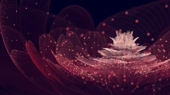 Abstract black dark flowers pink sparkles background wallpaper