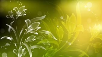 Abstract flowers 3d wallpaper