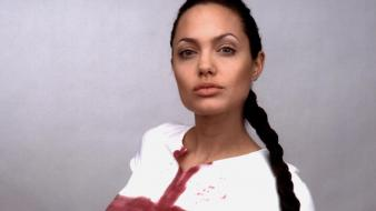 Angelina Jolie Bloody wallpaper
